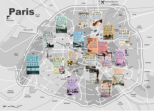 Cara Black Paris Map
