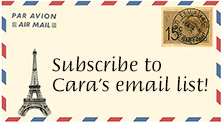Subscribe to Cara's email list!